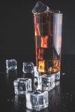 Whisky con ghiaccio Fotografie Stock