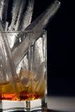Whisky con ghiaccio Fotografie Stock Libere da Diritti