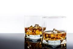 Whisky con hielo foto de archivo libre de regalías