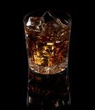 Whisky con hielo Imagen de archivo libre de regalías