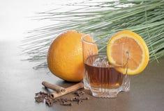 Whisky condimentado anaranjado foto de archivo libre de regalías