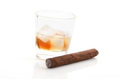 whisky cygarowy biel Obraz Royalty Free