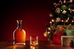 Whisky de la Navidad Foto de archivo libre de regalías