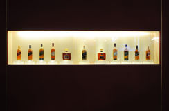 Whisky in de showcase Stock Afbeelding