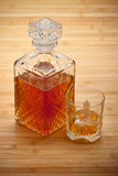 Whisky - decanter and drink Royalty Free Stock Photography