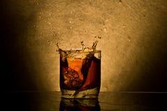 Whisky del ghiaccio Fotografie Stock Libere da Diritti