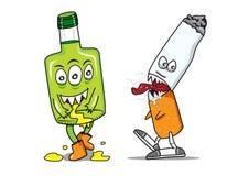 Whisky del tabaco del alcohol de la etiqueta del monstruo Imagen de archivo