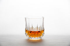 Whisky in a Diamond-Cut Glass Royalty Free Stock Photo