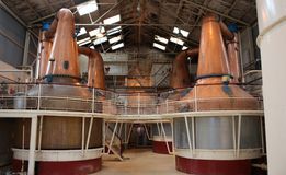 Whisky Distillery. The Distillation Stills of a Whisky Distillery Stock Images
