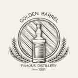 Whisky distillery emblem Stock Photo
