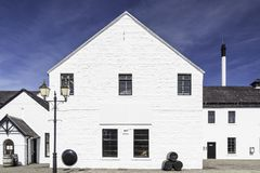 A whisky distillery factory Stock Photo