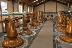 Whisky Distillery in Glenfiddich Scotland. The whisky distillers at Glenfiddich in Scotland UK royalty free stock image
