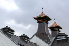 Whisky distillery pagoda. Ventilated pagoda roof from a scottish whisky distillery. Photo taken on: September 13th, 2015 Stock Image