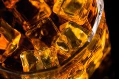 Whisky e ghiaccio Immagini Stock