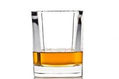 Whisky in een glas   Royalty-vrije Stock Afbeeldingen