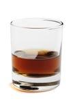 Whisky in een glas Stock Afbeelding