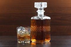 Whisky en darck Fotografía de archivo libre de regalías