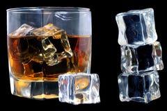 Whisky en Ijs Stock Afbeelding