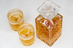 Whisky gazy i obraz royalty free