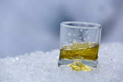 Whisky on the glacier Stock Images