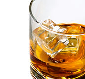Whisky Glas-cliose oben stockfoto