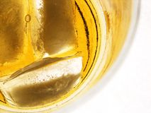 Whisky glass. E with ice Stock Photos