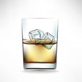 Whisky glass with beverage Stock Image