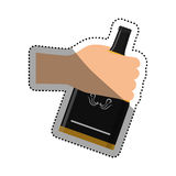 Whisky glass bottle Royalty Free Stock Image