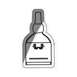 Whisky glass bottle Stock Photo
