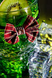 Whisky glass with bow tie Royalty Free Stock Photo