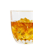 Whisky Glass; Clipping path Royalty Free Stock Image