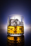 Whisky glass with gradient background Royalty Free Stock Image