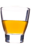 Whisky glass isolated. Glass with whisky, backlight, isloated Royalty Free Stock Photo