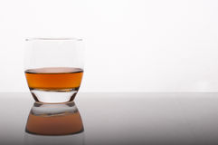 Whisky in the glass Royalty Free Stock Images