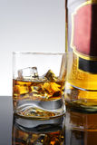 Whisky in  glass Stock Images