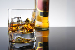 Whisky in  glass Royalty Free Stock Image