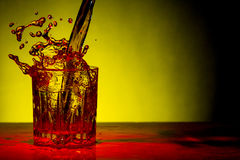 Whisky Glass Splash Royalty Free Stock Image