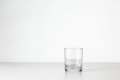 Whisky glass on white Royalty Free Stock Images