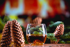 Whisky at Christmas Royalty Free Stock Images