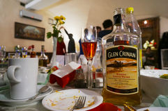 Whisky of the Glen Crinan brand party. VILNIUS, LITHUANIA - APRIL 24, 2015: Very drunk party in the center of Europe with whisky of the Glen Crinan brand. The Royalty Free Stock Photography