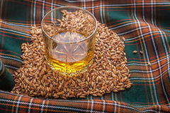 Whisky and grains Stock Photos