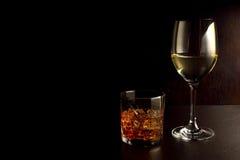 Whisky i wino Zdjęcie Royalty Free