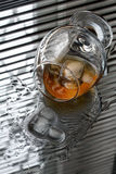 Whisky and Ice. Royalty Free Stock Photography