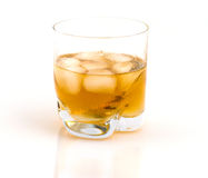 Whisky with ice. Royalty Free Stock Image