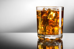 Whisky and ice royalty free stock photo