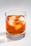 Whisky with an ice Royalty Free Stock Photo