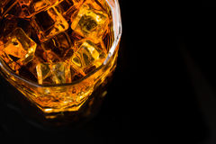 Whisky and Ice Royalty Free Stock Images