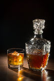 Whisky on ice and glass carafer Stock Image