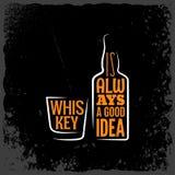 Whisky jest zawsze dobrym pomysłem pisze list tło Obrazy Stock