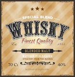 Whisky Label For Bottle Royalty Free Stock Photography